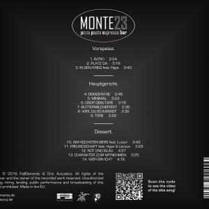 CD Cover Charakter zum Mitnehmen CZM by Jay Octavouj Rückseite